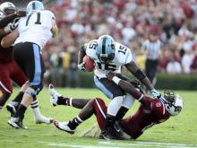 North Carolina couldn't overcome a slow start Thursday against sixth-ranked South Carolina, as the Gamecocks scored three times in the first quarter and held on to win 27-10.