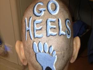 Sylvia Hatchell Tweeted this photo of her freshly shaved head Wednesday evening before her team took the court for an exhibition game.