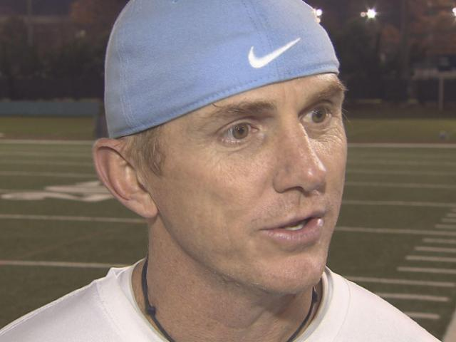 North Carolina offensive coordinator Blake Anderson spoke with the media Tuesday, Nov. 5, 2013 after news of Bryn Renner's injury.