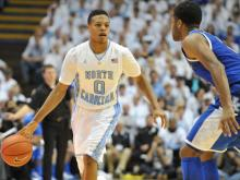 UNC shot 48 percent from the floor and got 23 points from Marcus Paige as they upset the No. 11 Kentucky at the Dean E. Smith Center Saturday, 82-77.