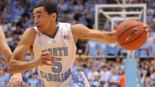 Marcus Paige (5) drives to the basket during action at the Dean E. Smith Center between the North Carolina Tar Heels and the Boston College Eagles on January 18, 2014 in Chapel Hill, NC. UNC won the contest over Boston College 82-71. (Will Bratton/WRAL contributor)