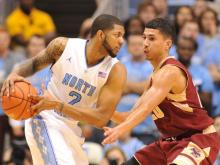 North Carolina defeated Boston College 82-71 Saturday, Jan. 18, 2014 at the Dean Smith Center for their first ACC win of the season.
