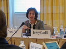 University of North Carolina at Chapel Hill Chancellor Carolt Folt addresses the Board of Trustees on Thursday, March 27, 2014.