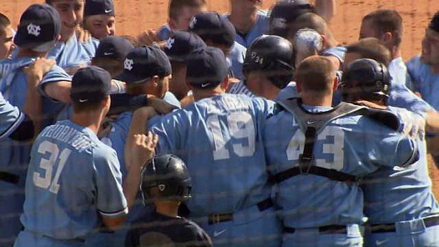 UNC sweeps Virginia Tech with walk-off