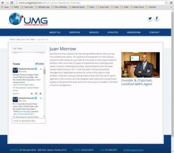 Juan Morro bio page