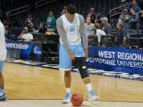 Tar Heels practice at STAPLES Center before Sweet 16