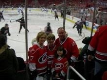 The wives of the Carolina Hurricanes have formed a team of their own. While their husbands battle it out on the ice, these ladies worry and cheer with each other.
