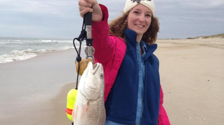 Abby Holbrook with a nice November Puppy Drum