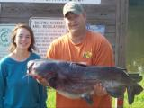 Natalie's 40 pound blue catfish