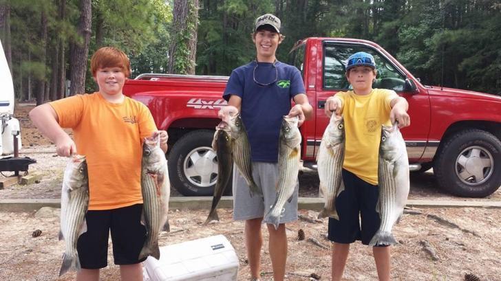Friends Fishing Kerr Lake