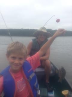 Family Fishing at Jordan Lake