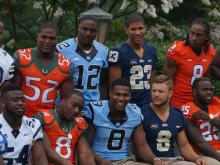Players took the stage on the first day of the ACC Football Kickoff at the Grandover in Greensboro, July 20, 2014.