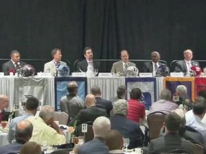 Area football coaches came together at the annual Pigskin Preview to discuss the upcoming college football season.