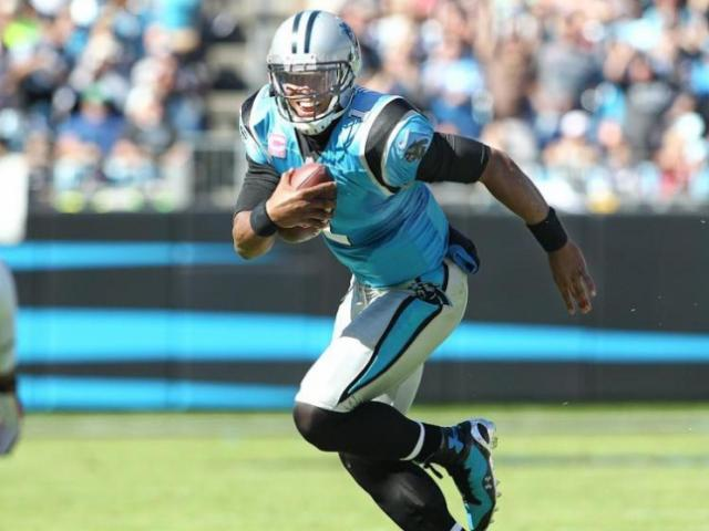 Carolina Panthers quarterback Cam Newton.<br/>Photographer: Chris Baird