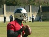 Newton back at Panthers practice