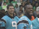 Panthers players bring 'Fuel Up' message to East Garner Middle School