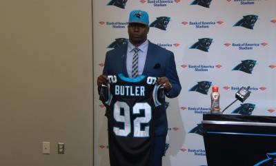 nfl Carolina Panthers Vernon Butler GAME Jerseys