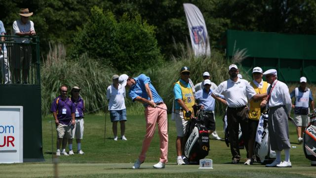 Chesson Hadley on day two of the 2013 Rex Hospital Open June 21 at TPC Wakefield Plantation Country Club in Raleigh, NC