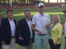 Friends, family share in Hadley's hometown win