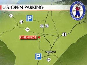 Two remote, free parking lots are available for U.S. Open fans during the week of June 9-15.