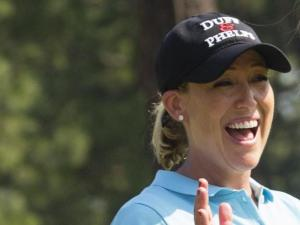 Cristie Kerr smiles as she walks off the fourth tee during a practice round before the 2014 U.S. Women's Open at Pinehurst Resort & C.C. in Village of Pinehurst, N.C. on Wednesday, June 18, 2014.  (Copyright USGA/Darren Carroll)