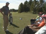 Hank Haney gives golf clinic at SAS