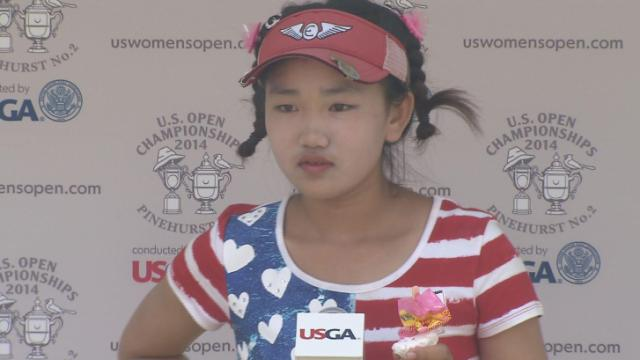 Lucy Li US Open Post Round One Pic