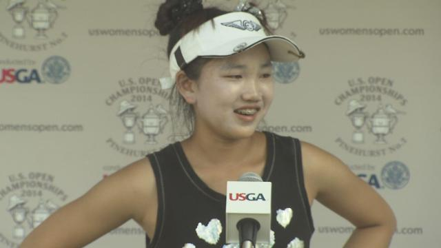 Lucy Li Post Round Two Pic