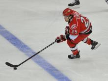 The Carolina Hurricanes Wednesday sent first-round draft pick Elias Lindholm to Charlotte of the AHL and recalled Chris Terry.