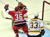 Carolina Hurricanes v. Boston Bruins in Game 3 of Semifinal Playoffs
