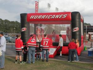 Hurricanes fans tailgating