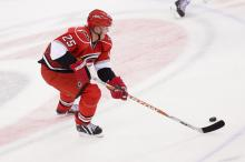 Joni Pitkanen, injured Tuesday night in a Carolina Hurricanes loss to the Washington Capitals, has a broken heel and will miss the remainder of the season, the team announced Wednesday morning.
