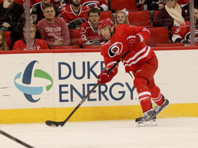 Calgary defeats the Hurricanes 2 to 0 Monday night January 13, 2014 at PNC Arena.(Photo by WRAL Contributor Jack Tarr)