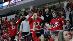 Canes top Columbus 3-2 in OT for 4th in a row