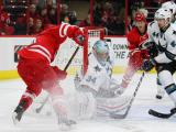Hurricanes stifled by Sharks rookie in 2-0 loss