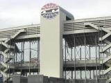 Charlotte Motor Speedway grandstand demolition