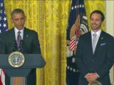 Jimmie Johnson with President Obama