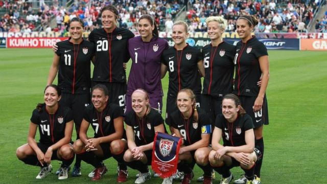 FILE: Members of the U.S. Women's National Team prior to their game versus Japan at WakeMed Soccer Park in Cary, NC on Wednesday, May 18, 2011 (Photo by Jack Morton).