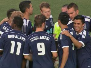 When the Carolina RailHawks take the field against the LA Galaxy Tuesday at 7 p.m., it won't be in their familiar stadium, but instead on a much smaller practice field.