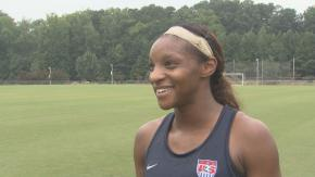Crystal Dunn Pre-USA Switzerland Pic