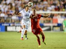 The US Women's National Team defeated Switzerland in a friendly August 20, 2014 at Wake Med Soccer Park.