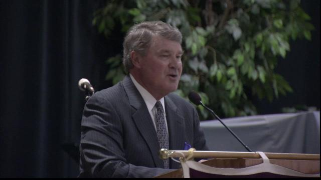 ACC Commissioner John Swofford spoke at The Raleigh Sports Club Feb. 16, 2011.