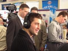 Tim Tebow on Radio Row