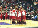 Wolfpack team prior to tip-off against San Diego State