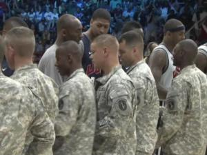 Team USA practiced in front of around 3,000 members of America's armed forces and their families Saturday in Washington, D.C.