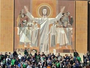 "The ""Word of Life"" mural at Notre Dame is more commonly known as ""Touchdown Jesus"""