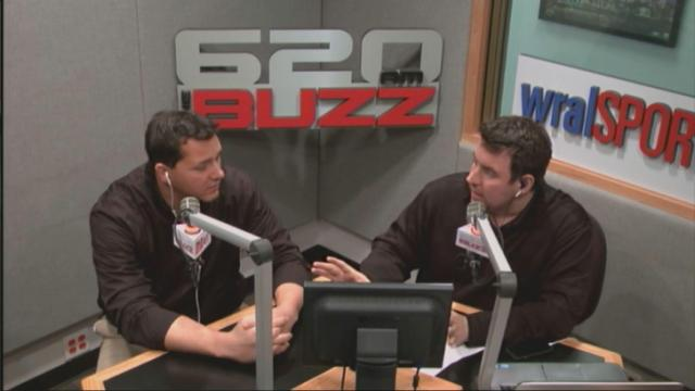 Mark Thomas and Mike Maniscalco in studio
