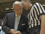 Roy Williams talks to a ref