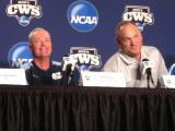 Fox and Avent at the first press conference at the College World Series