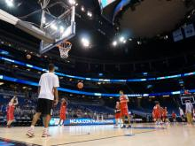 After an overnight flight from Ohio, NC State practiced Wednesday in Orlando.